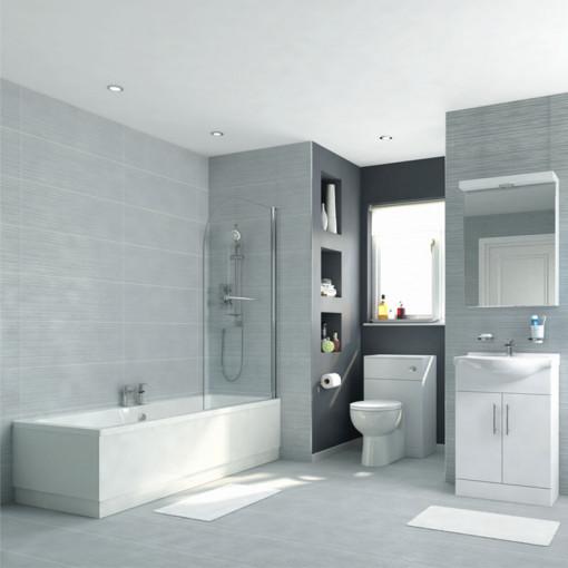 Voss 55 Vanity Unit Shower Bath Bathroom Suite