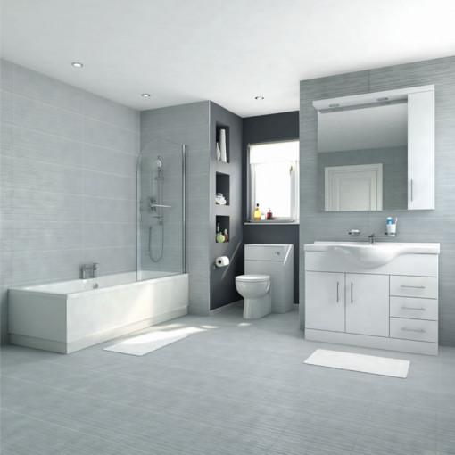 Voss 105 Vanity Unit Shower Bath Bathroom Suite