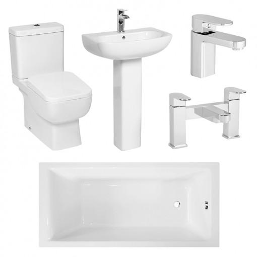 Carona Como 1700 x 700 Bathroom Suite
