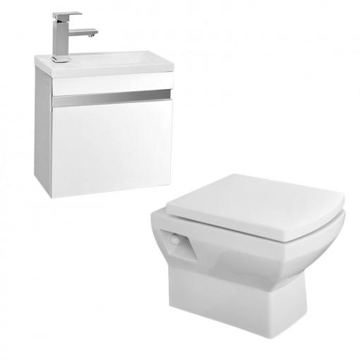 Tabor™ Vigo 420mm Wall Mounted White Suite