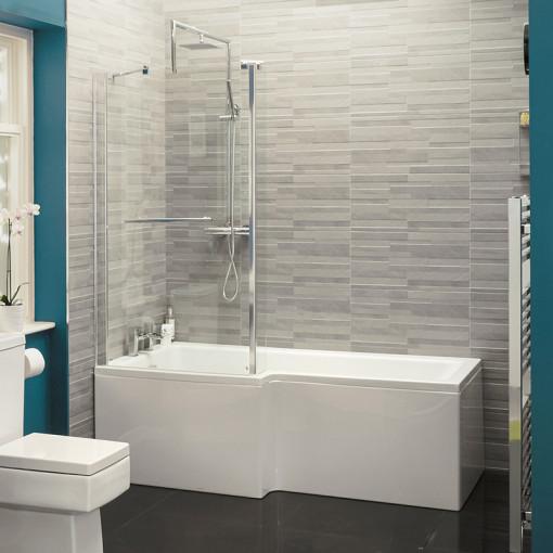 Modena™ Verona Left Hand Shower Bath Suite with Taps