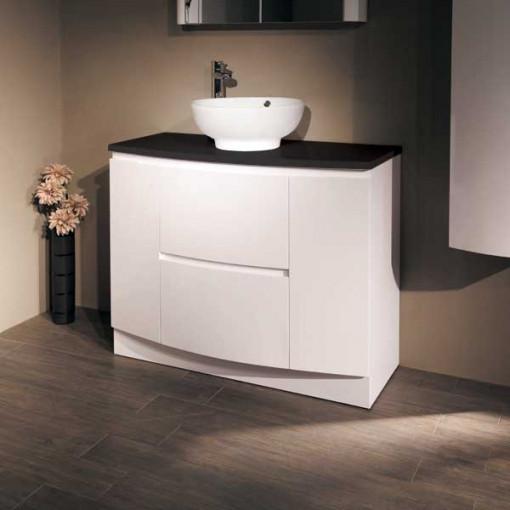 Voss™ 1010 Floor Mounted Black Countertop Door and Drawer Unit