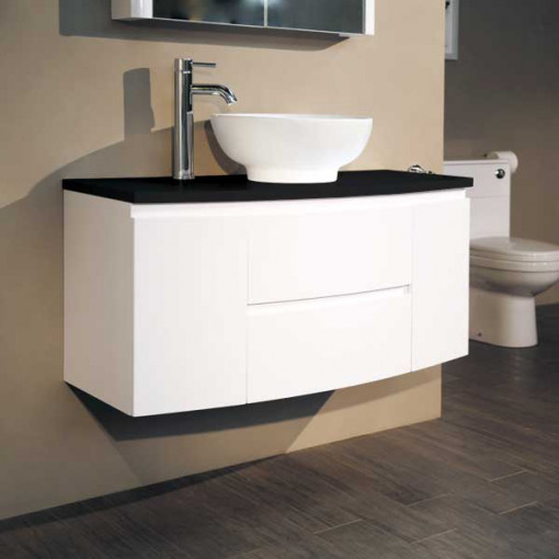 Voss™ 1010 Wall Mounted Black Countertop Door and Drawer Unit