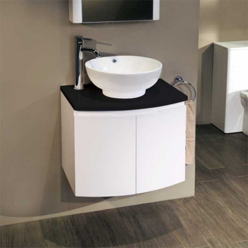 Voss™ 620 Wall Mounted Black Countertop Vanity Unit