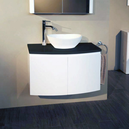 Voss™ 810 Wall Mounted Black Countertop Vanity Unit