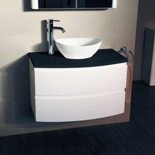 Voss™ 810 Wall Mounted Black Countertop Vanity Drawer Unit