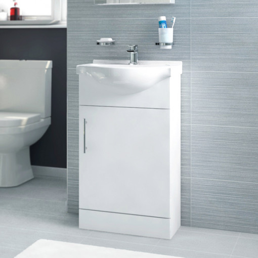 Voss Dee 45 Vanity Unit Straight Bath Bathroom Suite