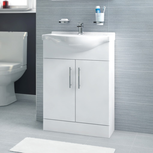 Windsor™ 55 White Vanity Basin Unit