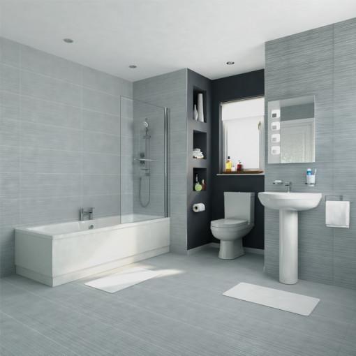1700 x 750 Voss Dee Shower Bath Bathroom Suite