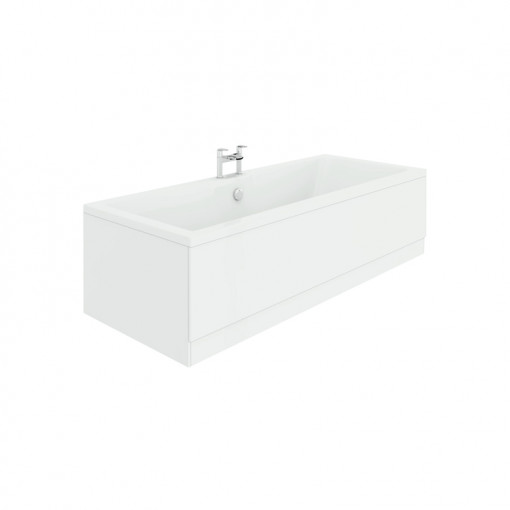 Voss 1600 x 700 Right Hand Straight Shower Bath with 6mm Hinged Screen