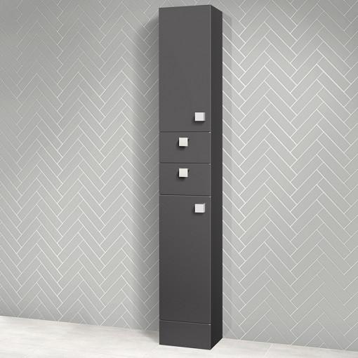 Austin 300mm Grey Gloss Tall Storage Unit