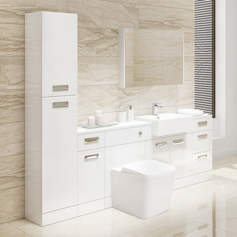 Cuba Toilet & Basin Furniture Bathroom Suite