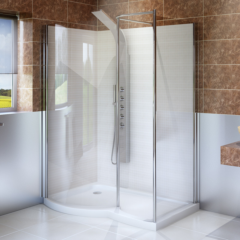 1400 x 900 Left Hand Walk In Enclosure with Shower Tray