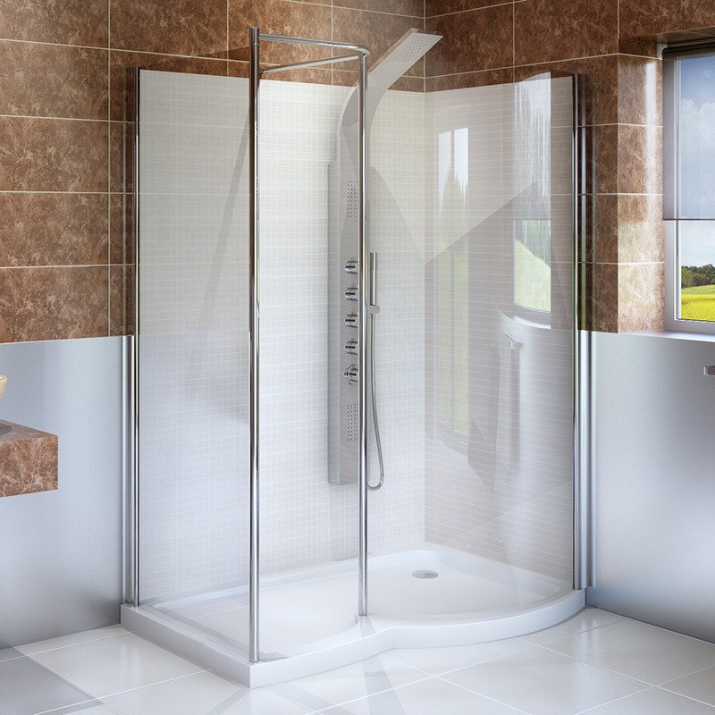 1400 x 900 Right Hand Walk In Enclosure with Shower Tray