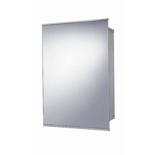 Stainless Steel Sliding Door Mirrored Cabinet 500 H 340 W 160 D
