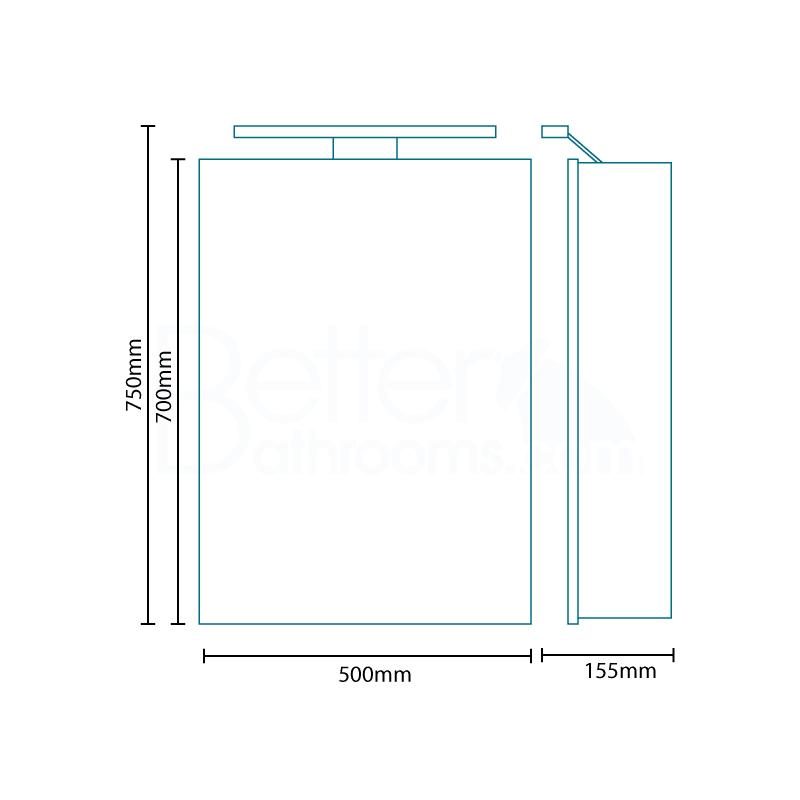 Beta Heat Electric 1150 X 600mm Curved Chrome Heated Towel: Galaxy Illuminated Mirrored Cabinet