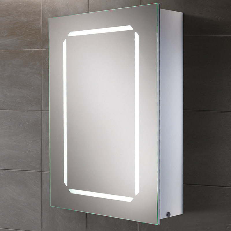 Bella mode illuminated mirrored cabinet for Bathroom cabinets led