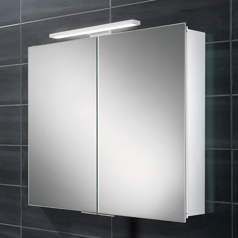 Pluto Double Door Illuminated Mirrored Cabinet
