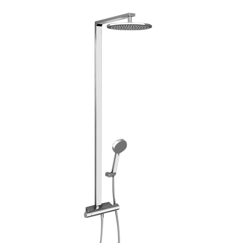 montroc premium rigid riser shower rail kit with dual valve