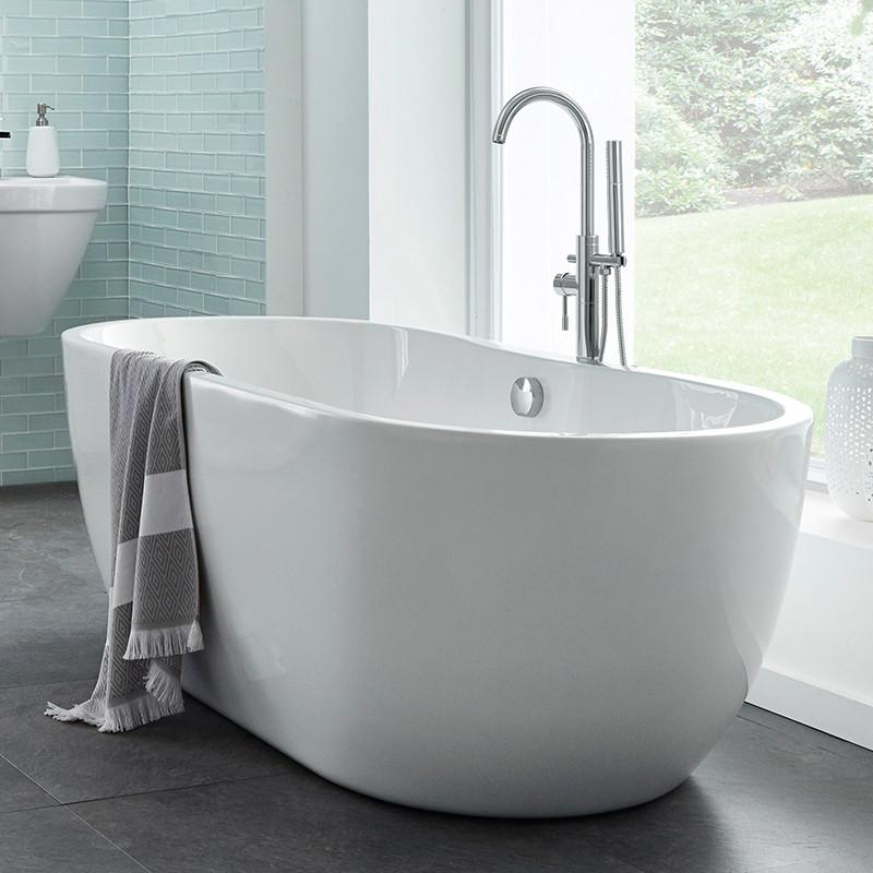 Lisbon 1650 x 750 Luxury Freestanding Bath Plus Free S9 Freestanding ...