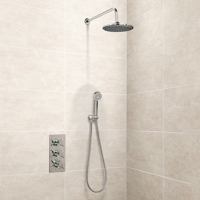 EcoStyle Triple Control Shower Valve with handset and shower head