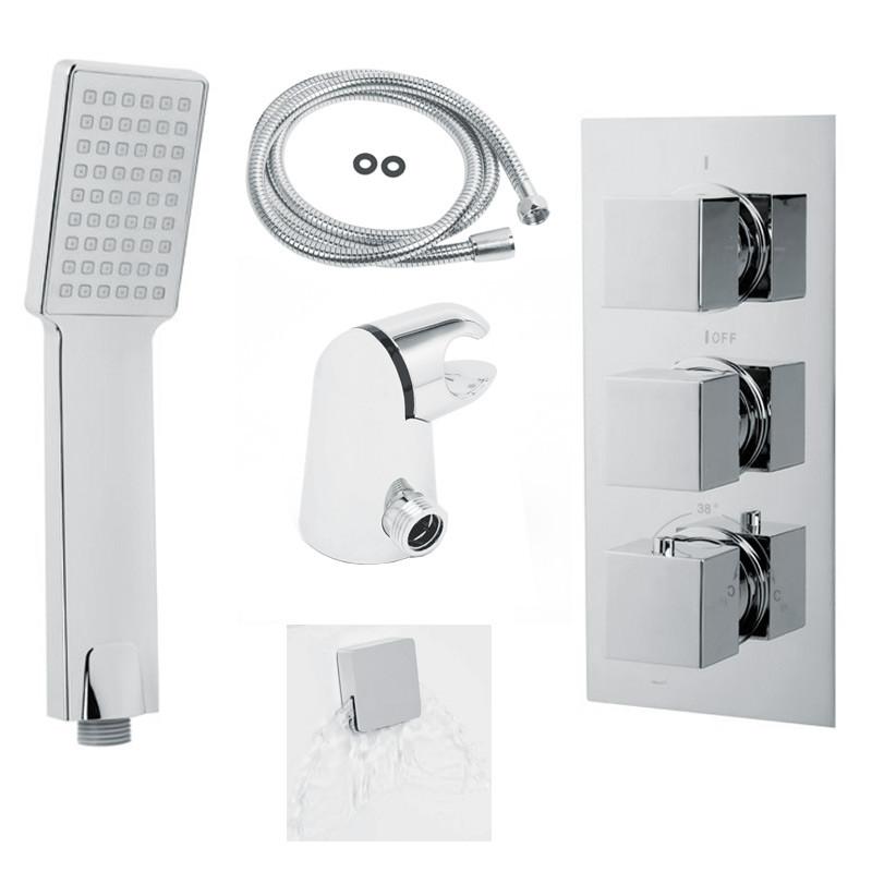 EcoCube Concealed Triple Control Shower Valve with Diverter ...