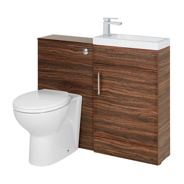 Aspen 50 Walnut Toilet Basin Suite