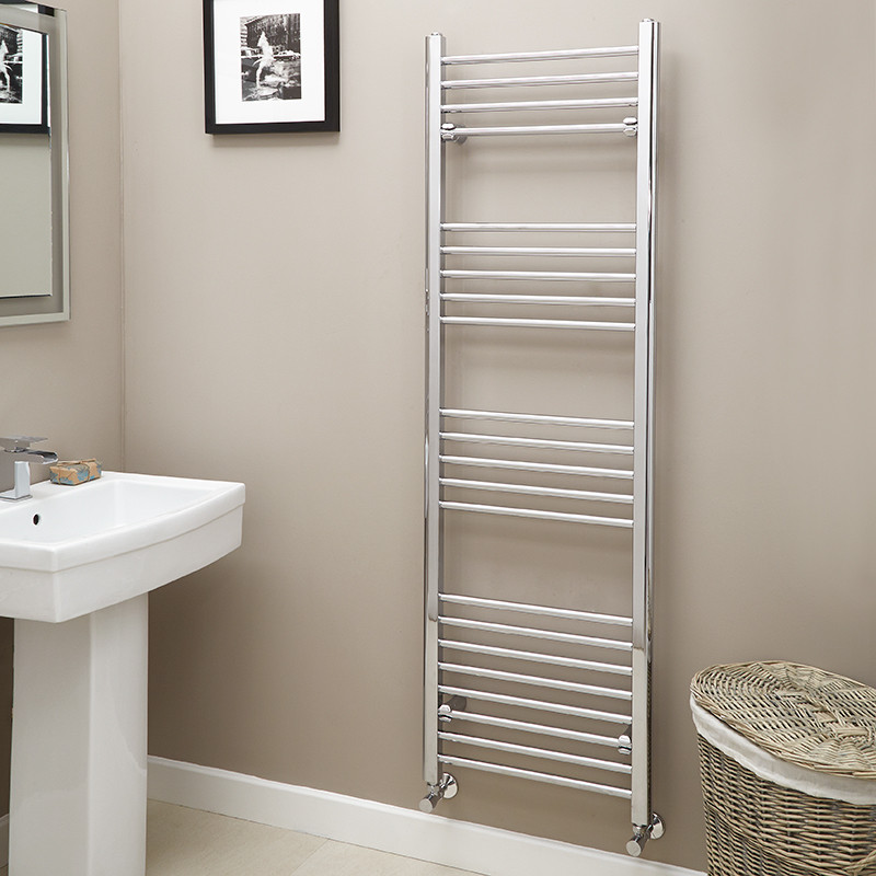 Eco Heat 1600 X 500mm Straight Chrome Heated Towel Rail