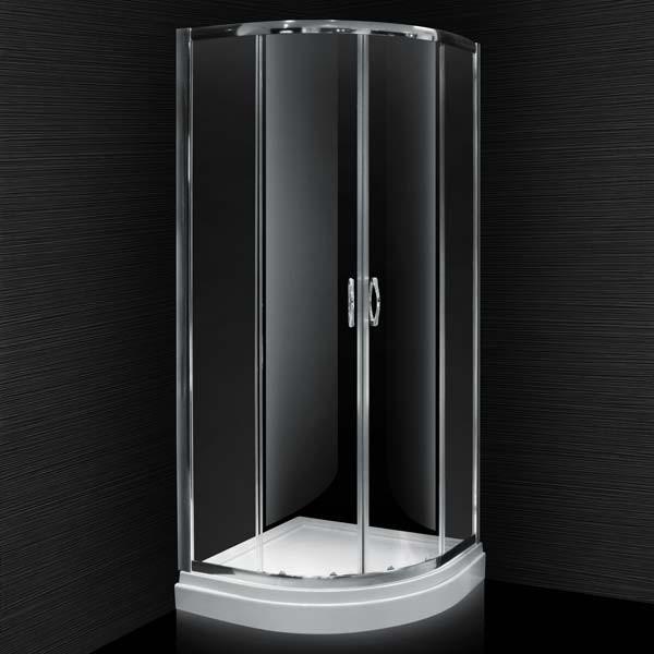 Aqualine 4mm 800 X 800 Sliding Door Quadrant Shower Enclosure