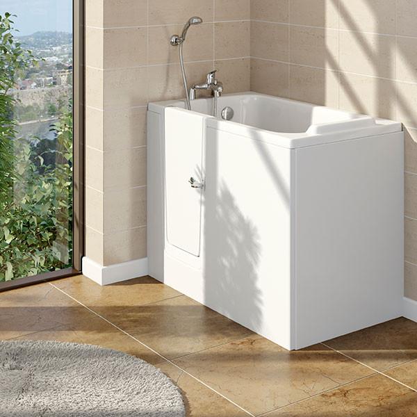 Comfort Easy Access 1210 x 650mm Deep Soak Walk In Bath