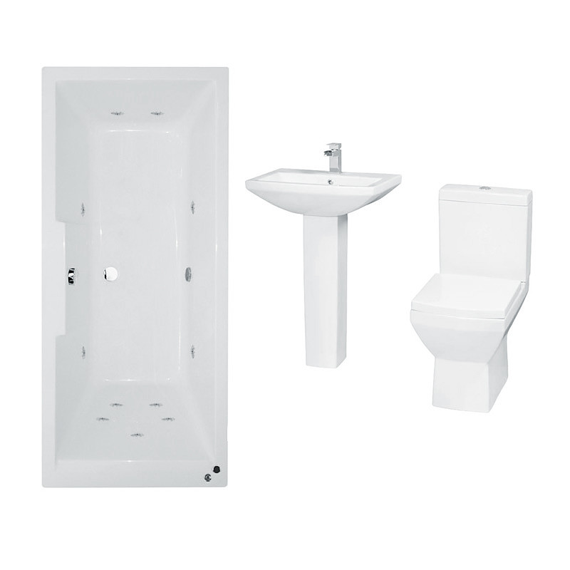 Tabor 1700 whirlpool bath suite for Whirlpool shower bath suites