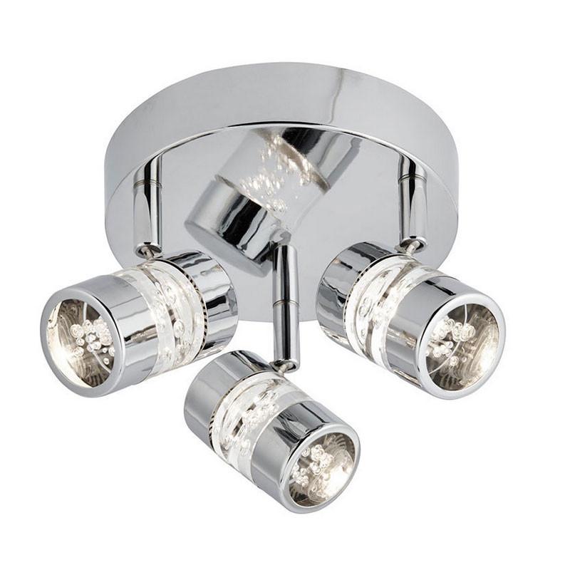 Led Spotlights Ceiling: Bubbles Chrome LED Trio Ceiling Spotlight