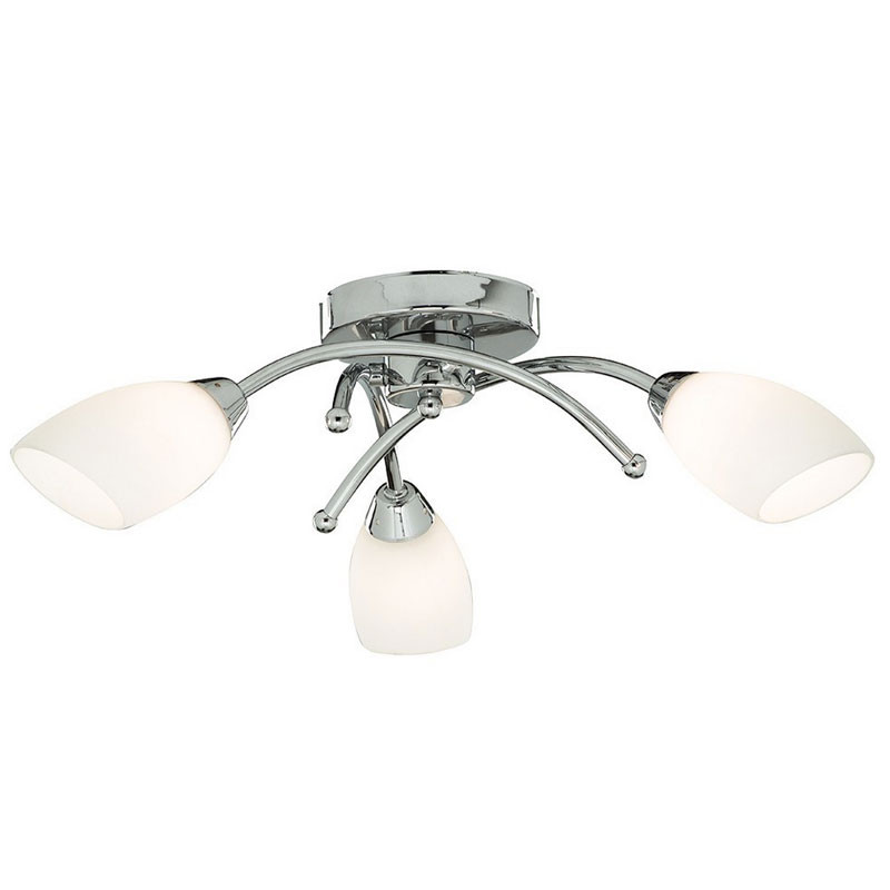 Ceiling Light 5 Arm Chrome : Opera arm chrome bathroom ceiling light