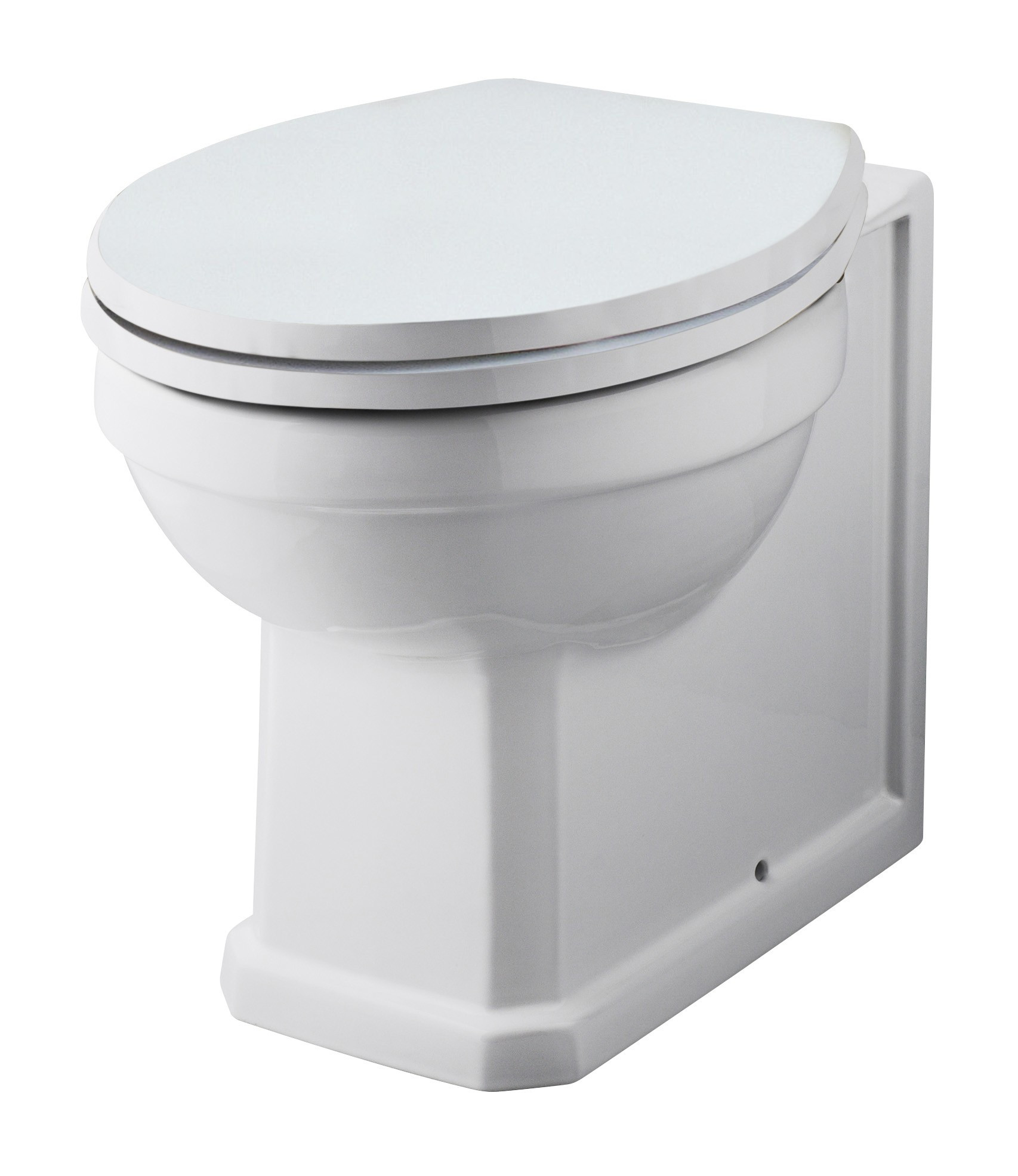 Nottingham White Wc Unit With Park Royal Back To Wall Toilet