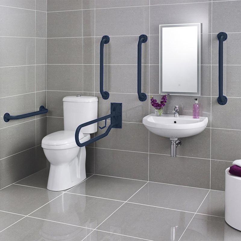 Doc M Blue Two Piece Bathroom Suite