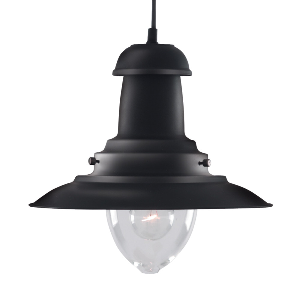 Fisherman Black Pendant Ceiling Light
