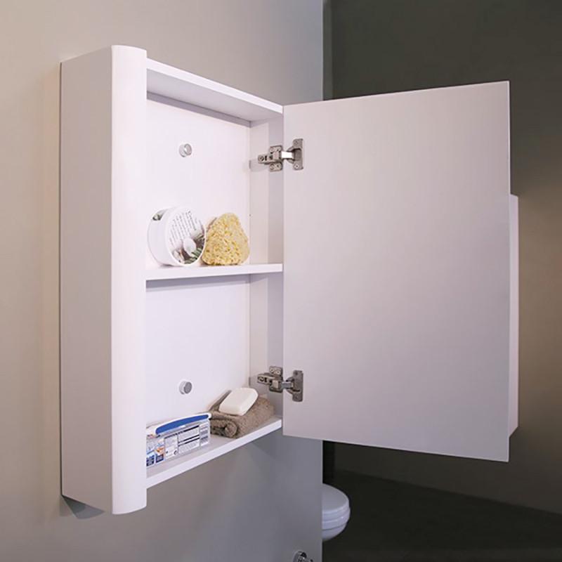 Voss 500 single door mirror cabinet 650 h 500 w 130 p for Bathroom cabinets 500