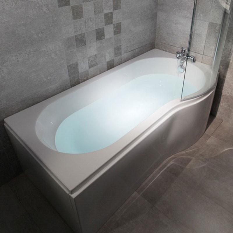 Modern Right Hand 1675 X 850 P Shaped Shower Bath