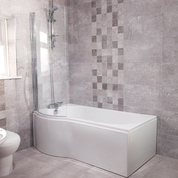 micro 1675 shower bath suite with eco shower rail kit micro 1675 shower bath suite with eco shower rail kit