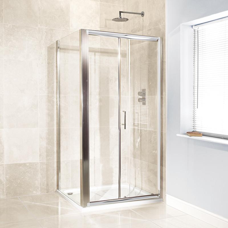 Aquafloe™ 6mm 1000 x 900 Sliding Door Shower Enclosure