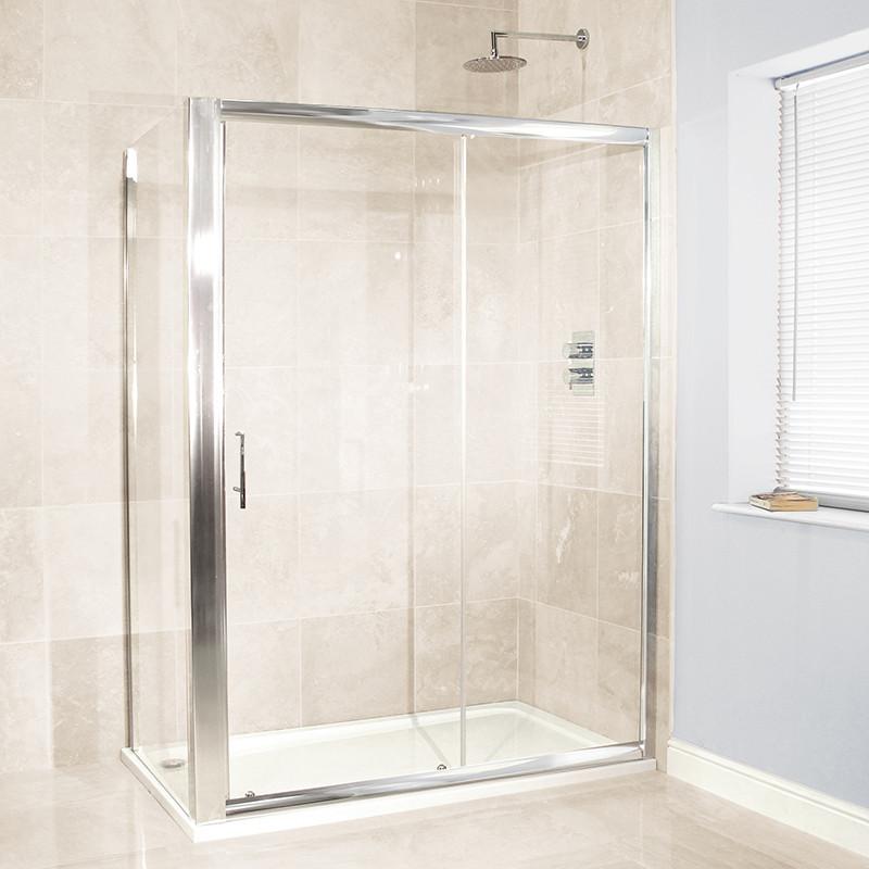 Aquafloe™ 6mm 1200 x 900 Sliding Door Shower Enclosure