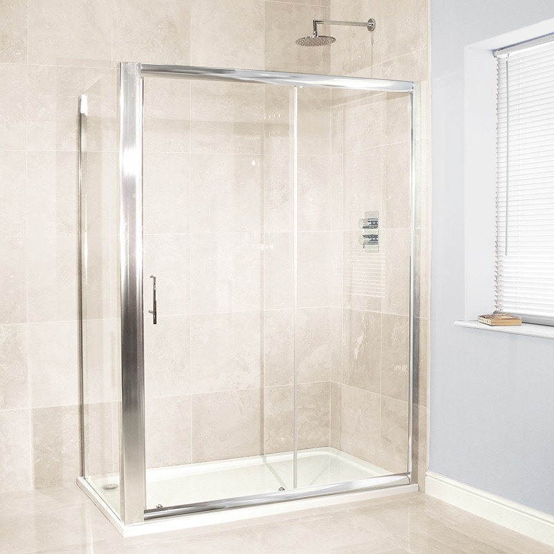 Aquafloe 6mm 1400 x 900 sliding door shower enclosure for 1400 shower door