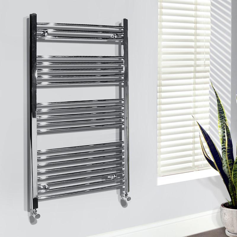 Heated Towel Rails Electric Chrome: Beta Heat Electric 1150 X 600mm Straight Chrome Heated
