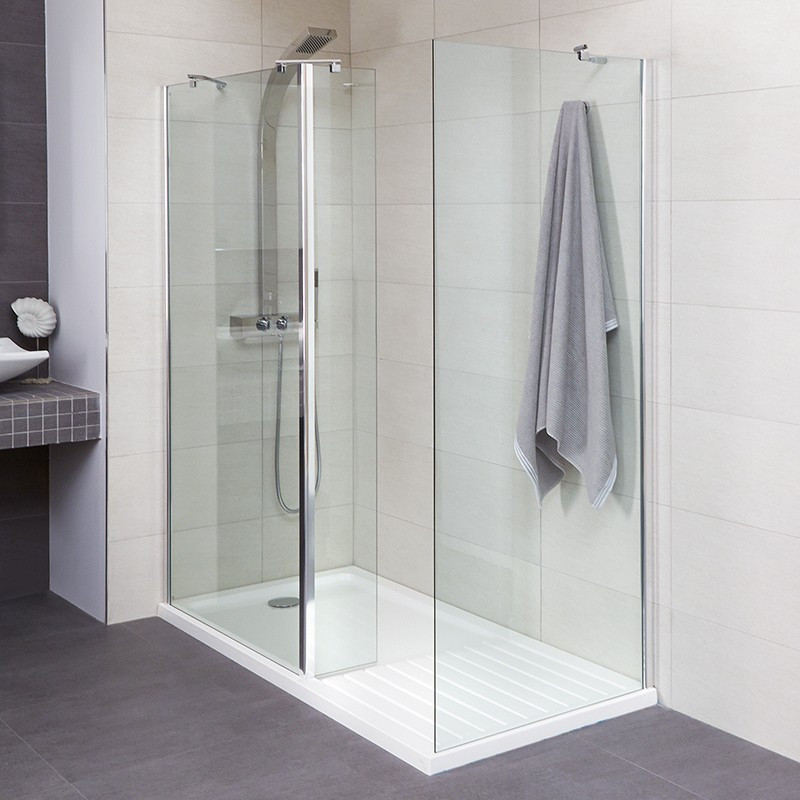 aqualine 1400 walk in shower enclosure with tray