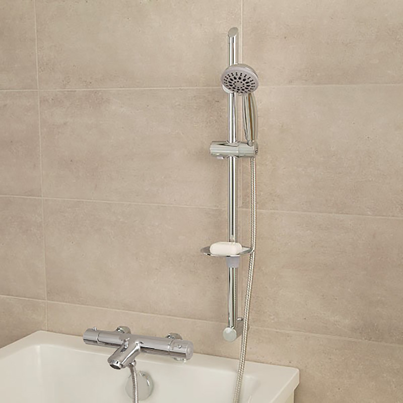 Deluxe Deck Mounted Bath Shower Mixer with Rail Kit