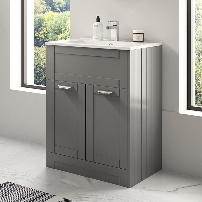 Nottingham Grey 600 Vanity Unit