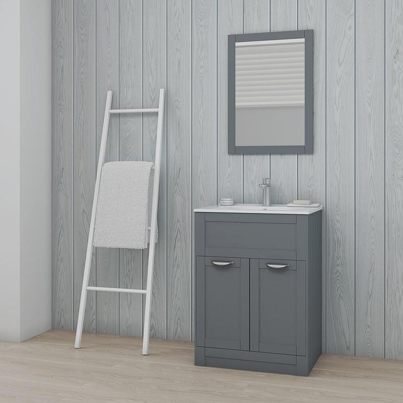 Nottingham Grey Framed Mirror
