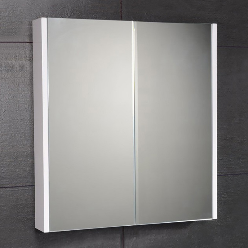 Windsor Cuba Aspen 60cm 2 Door Mirror White Cabinet