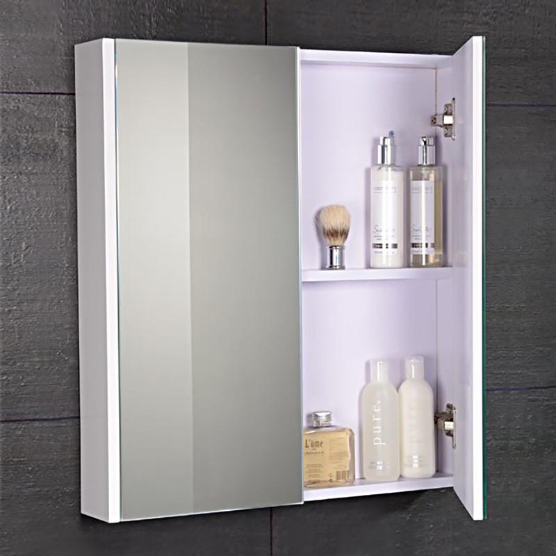 Windsor Cuba Aspen 60cm 2 Door Mirror White Cabinet
