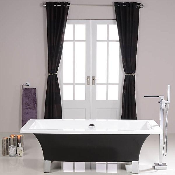 Athena Black 1700 X 750 Freestanding Bath